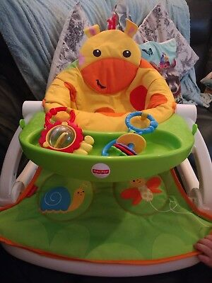 Baby Sit Me Up Floor Seat Fisher-Price Giraffe Play Booster Chair
