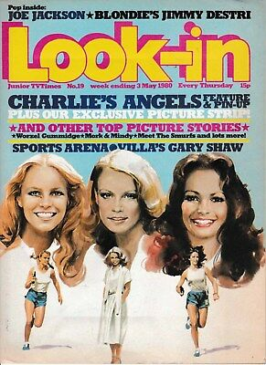 LOOK-IN MAGAZINE No 19 3 MAY 1980  CHARLIE'S ANGELS CENTERFOLD