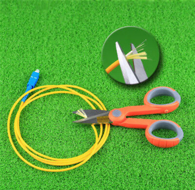 Fiber Cable Cutting Kevlar Cutter Tools Steel Electrician Scissors Shearing New