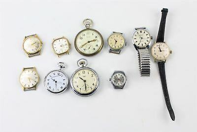 Lovely Collection of Mens Hand Wind inc Military Pocket Watch SPARES AND REPAIRS