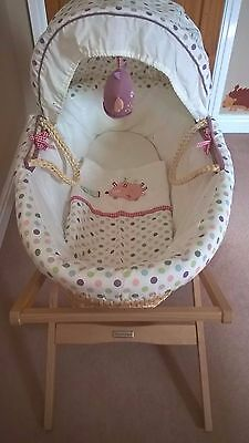 NurseryLollipop Lane Prickles and Twoo Moses Basket and Mama and Papas Stand