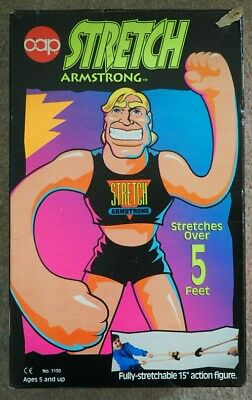 Vintage boxed Stretch Armstrong by CAP 1993 with instructions Retro Christmas