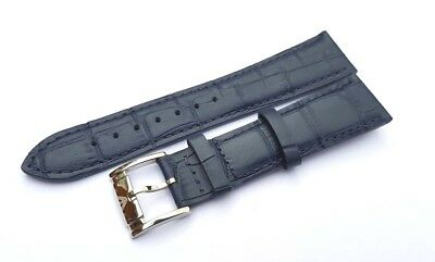 Genuine Leather Watch Strap Band for EMPORIO ARMANI Watches 22 mm. BLUE.(AR-7)