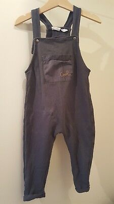 zara baby boy 12-18 jersey dungarees/ all in one. Great condition. Charcoal grey