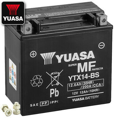 Batterie Suzuki AN650 Z Burgman Executive BU Bj. 2017 YUASA YTX14-BS