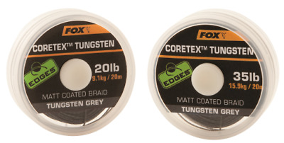 Fox Edges Coretex Tungsten Hooklink - 20lb OR 35lb