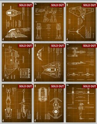 Topps Star Wars Card Trader Blueprint Orange Full Set + Award And Bonus Card