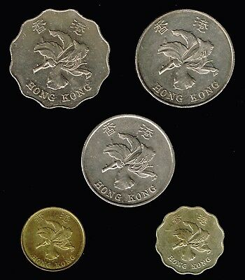 HONG KONG :- Post Colonial period, 5 different  coins c1990's. AP6338