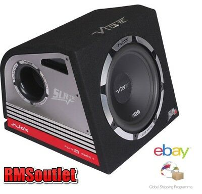 """VIBE Slick SLR12A 12"""" Active Amplified Sub Box Subwoofer 1200w Built in amp"""