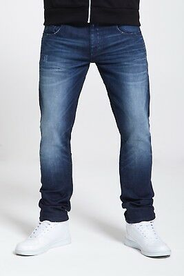 Mens Slim Fit Stretch Jeans In Dark Wash  (Voyage)