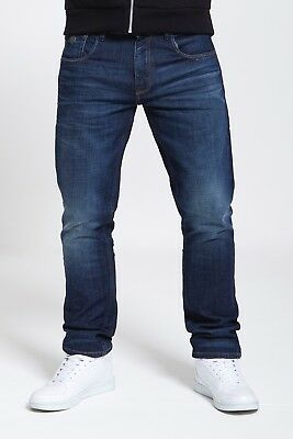Mens Slim Straight Fit Stretch Jeans In Dark Wash  (Riddler)