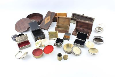 Large Collection of Vintage Trinket Boxes & Containers