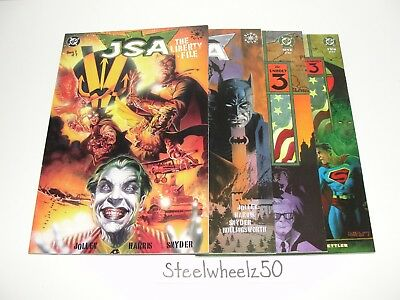 JSA The Liberty File & Unholy 3 1-2 DC Comics 2000 2003 COMPLETE Justice Society
