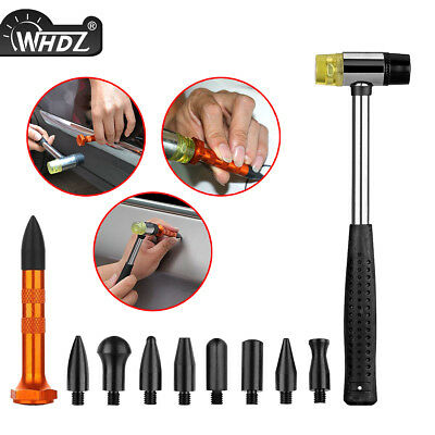 Car Boby Paintless Dent Repair PDR Tools Multi-Functional Tap Down Hammer 9 Head