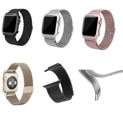 Milanese Magnetic Loop Stainless Steel Strap iWatch Band For Ap Watch 42/38mm UK