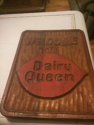 Vintage Wooden Dairy Queen Sign