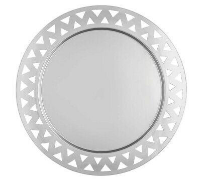 Alessi 48 cm Round Tray with Open-Work Edge in Steel Mirror Polished