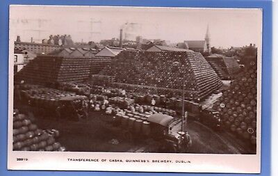 Vintage 1926 Rp Postcard Transference Of Casks Guinness's Brewery Dublin Ireland