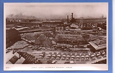 Old Vintage Postcard Lower Level Guinness's Brewery Dublin Ireland