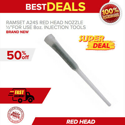 """RAMSET A24S RED HEAD NOZZLE 1/2""""FOR USE 8oz. INJECTION TOOLS, FAST SHIPPING"""