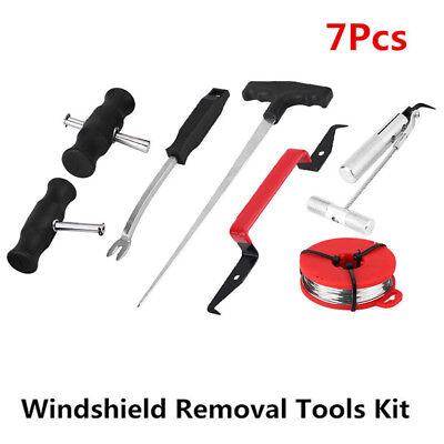 7pcs Auto Windscreen Glass Removal Set Car Van Windshield Kit Garage Hand Tool