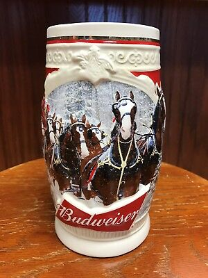 2015 Budweiser Holiday Stein in Box and with Certificate of Authenticity