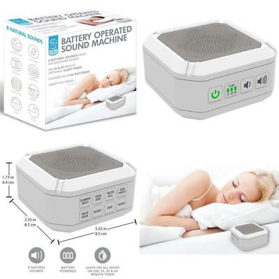 Sleep Sound Therapy Machine Portable Natural 8 Sound Mask Background Noise Night
