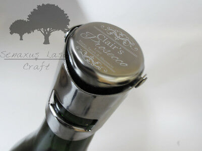 Personalised Engraved Silver Plated Prosecco / wine Bottle Stopper - bs3