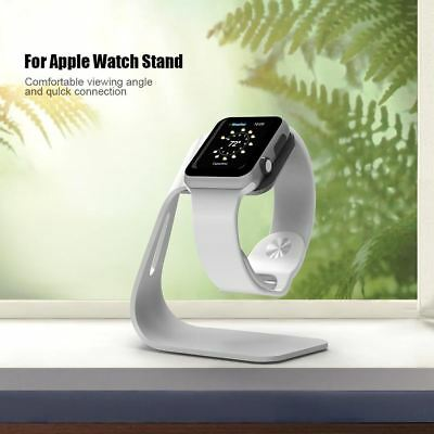 MR.YI Watch Holder For Apple Watch High-grade Sliver Metal Aluminum Charging Doc