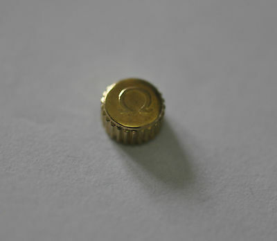 OMEGA YELLOW GOLD PLATED WATCH CROWN KEY (6.04mm x 3.42mm) (OC-6)