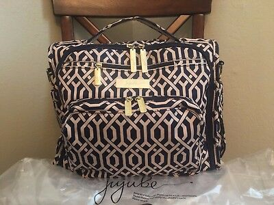 Jujube B.F.F Diaper shoulder Bag Navigator Backpack blue gold womens xmas gift