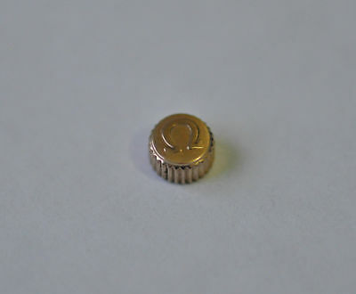 OMEGA ROSE GOLD PLATED WATCH CROWN KEY. (4.92mm x 3.03mm) (OC-19)