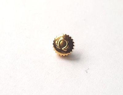 OMEGA YELLOW GOLD PLATED WATCH CROWN KEYS.(6.56 mm X 3.16 mm ) (OC-29)