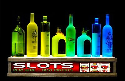 """40"""" Color Led Lighted High End Liquor Bottle Display  Acrylic Top Great Gift"""