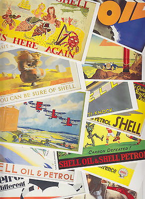 20 cartes postales reproduction anciennes affiches publicitaires SHELL + OPIE L4