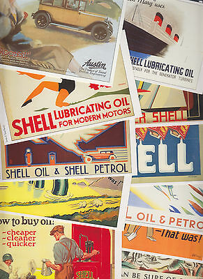 20 cartes postales reproduction anciennes affiches publicitaires SHELL + OPIE L2