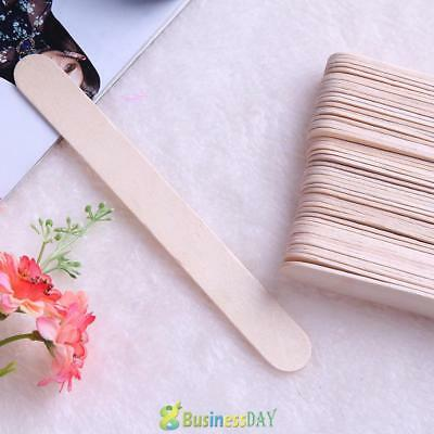100pcs Wooden Body Hair Removal Sticks Wax Waxing Applicator Disposable Spatula