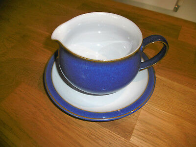 """Denby """"Imperial Blue"""" gravy boat and saucer"""