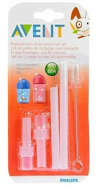 Philips Avent Spare Straws Transitional Cups Baby Bottle Nipple Cleaning Brush