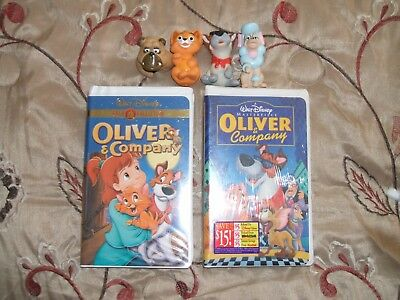 "Disney VHS Masterpiece & Gold Collection (ULTRA RARE) ""Oliver and Company"" TOYS!"