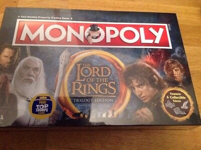 Monopoly The Lord of the Rings Trilogy Edition Free Top Trumps Card New & Sealed