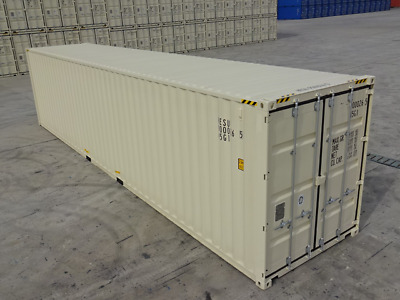 40' High Cube One Trip Chicago Shipping Container Box Storage Reprocessing