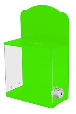 MCB Locked Donation Box with Back Wall Curved Display Area - For Fundraising Box