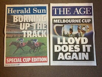 Rekindling  Melbourne Cup 2017 News Stand Posters- The Age / Herald Sun
