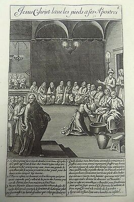 1593 NATAL Wierix Collaert Vos Galle PASSION TABLEAU Christ Washes Feet