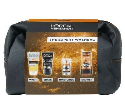 L'Oreal Men Expert The Expert Washbag 4 Piece Mens valentine's Gift Set For Men