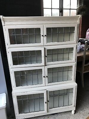 Antique Bookcase Leaded Glass