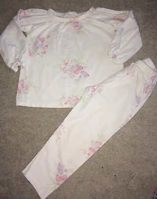 The White Company 18-24 Months Floral Girls Pyjamas, Pjs, Long Sleeved
