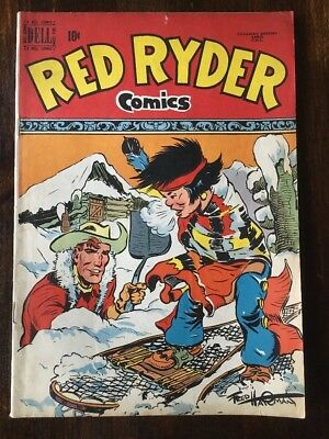RED RYDER COMICS #80 (DELL 1950) FN 6.0 Grade Very Rare Canadian Edition