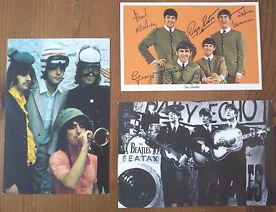 The Beatles- Collection of Vintage Postcards 1 signed